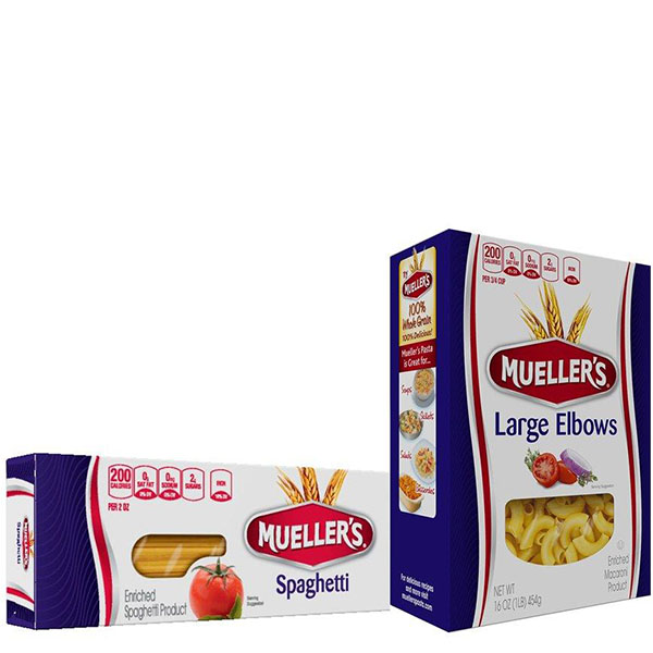 muellers spaghetti and elbow boxes of pasta