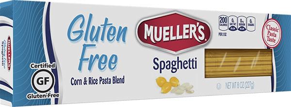 gluten free spaghetti by mueller's pasta