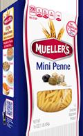 box of semolina mini penne pasta by muellers