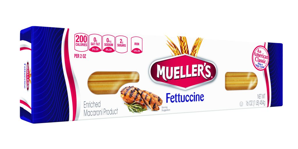 fettuccine noodles from muellers pasta