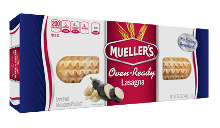 oven ready lasagna noodles from muellers pasta