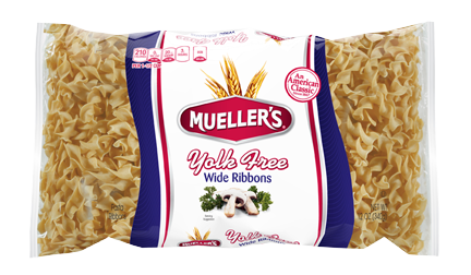 yolk free wide ribbon noodles from muellers