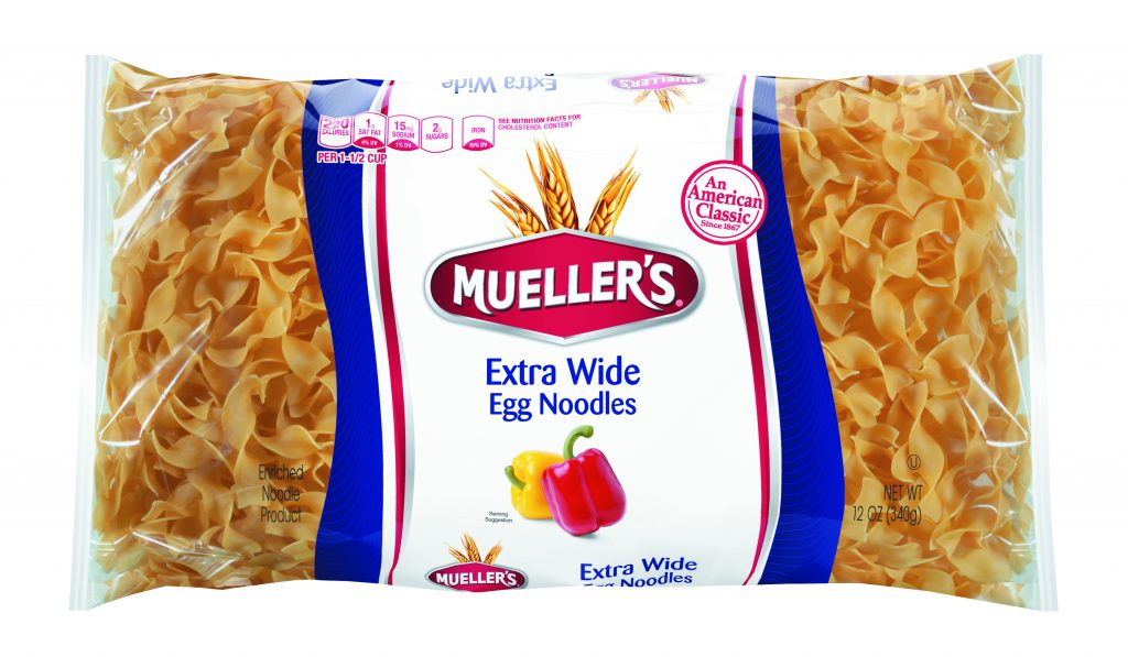 Extra wide egg noodles from muellers pasta