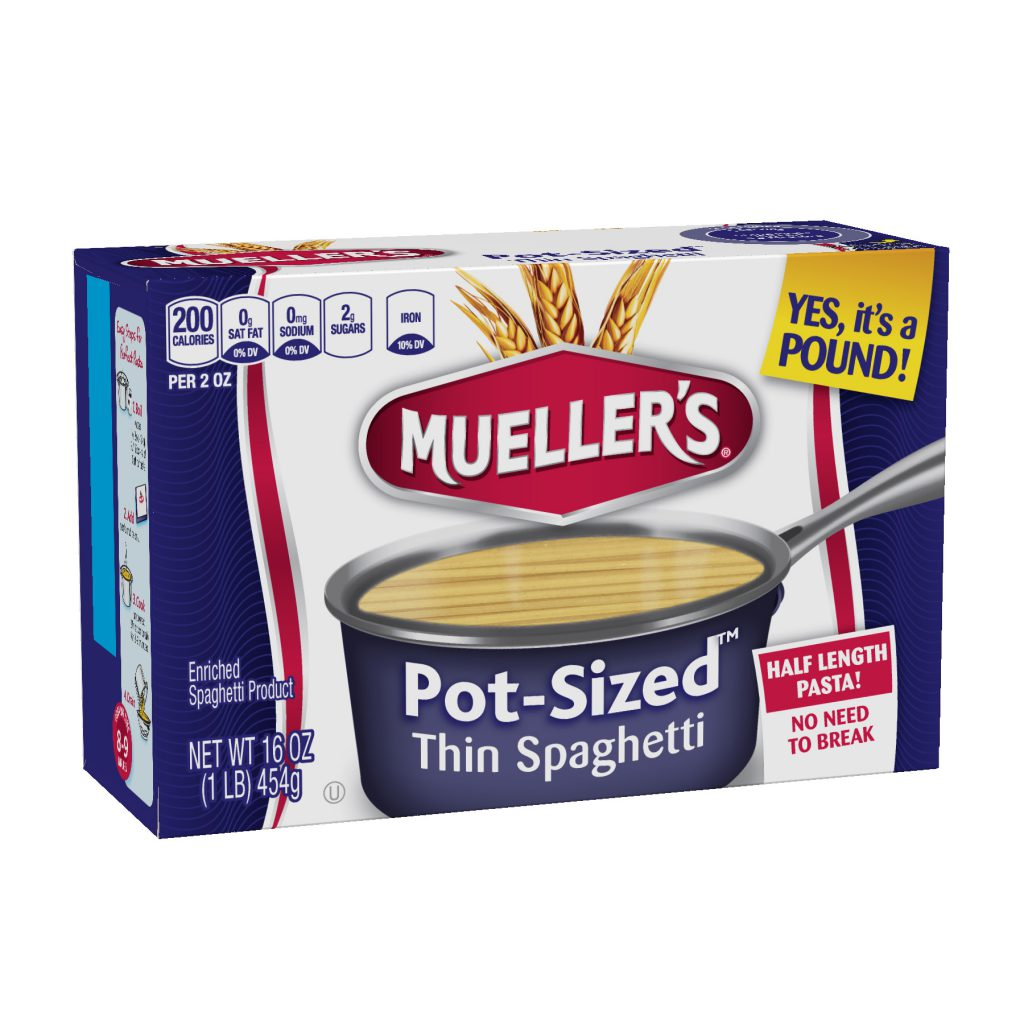 thin spaghetti pot-sized from muellers no need to break