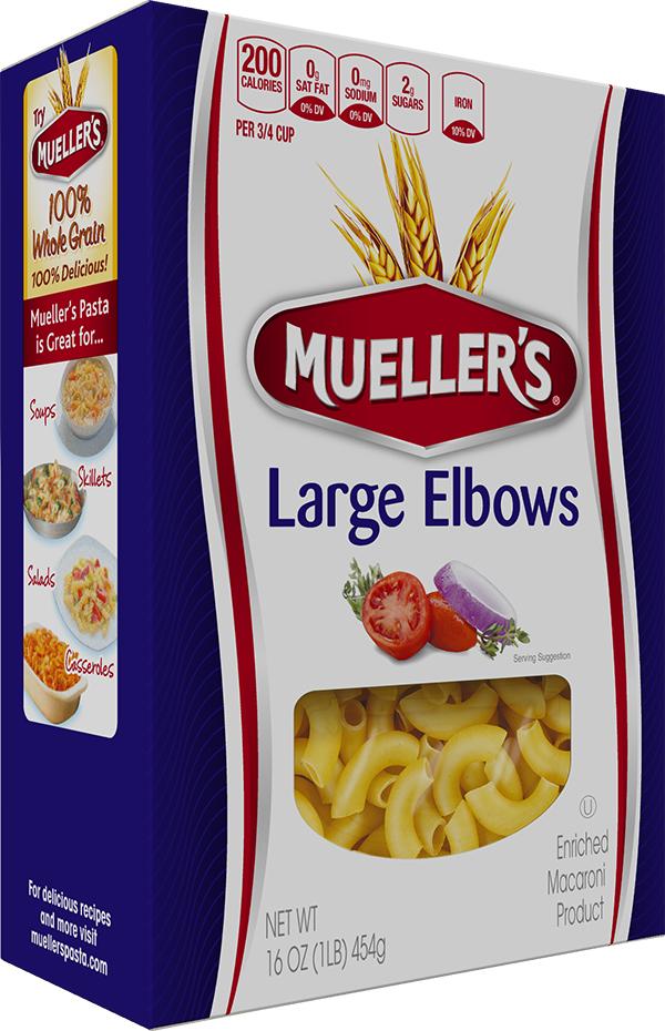 Box of Muellers Large Elbow Macaroni Pasta