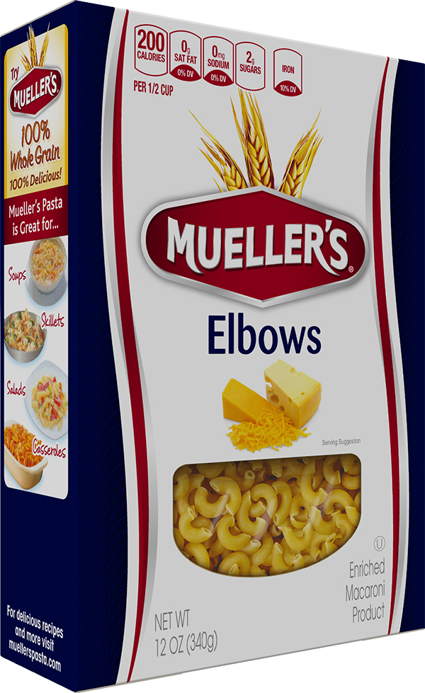 Box of Muellers Elbow Macaroni Pasta