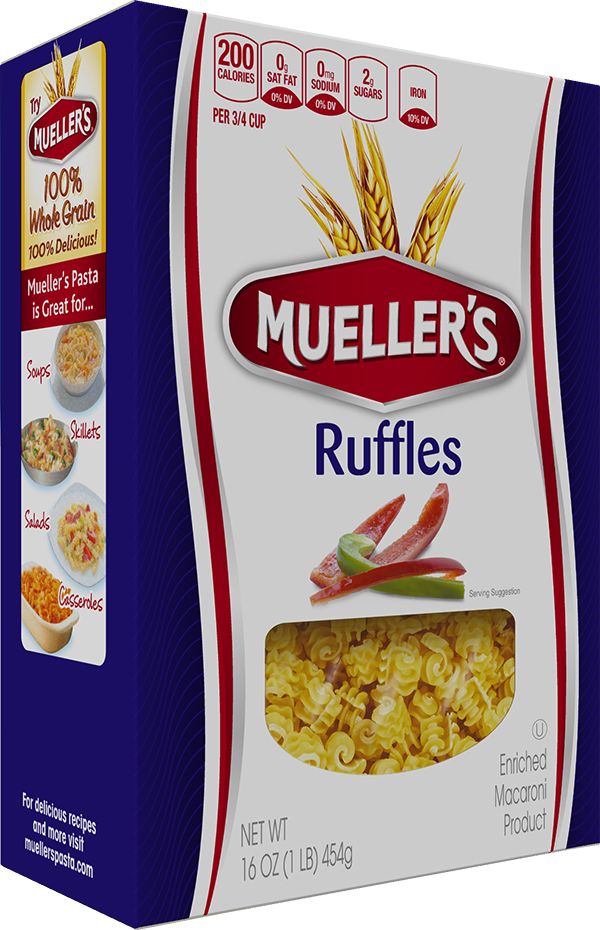 Box of Muellers Ruffle Pasta