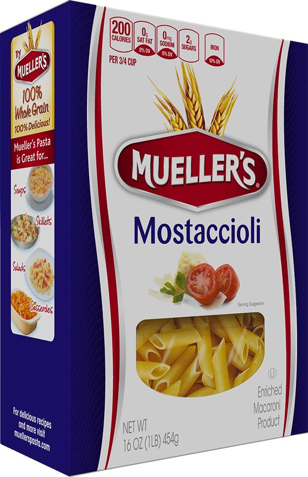Box of Muellers Mostaccioli Pasta