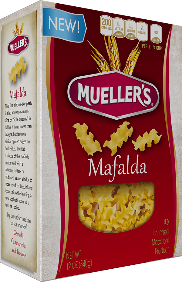 Box of Muellers Mafalda Pasta