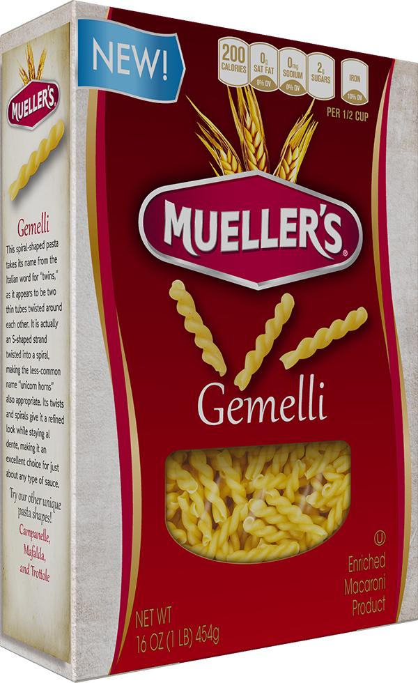 Box of Muellers Gemelli Pasta