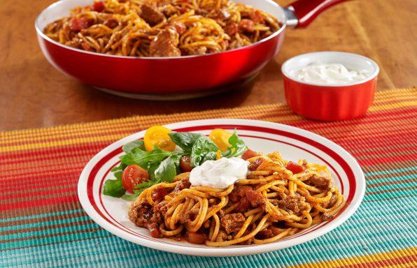 Taco-Spaghetti-Skillet